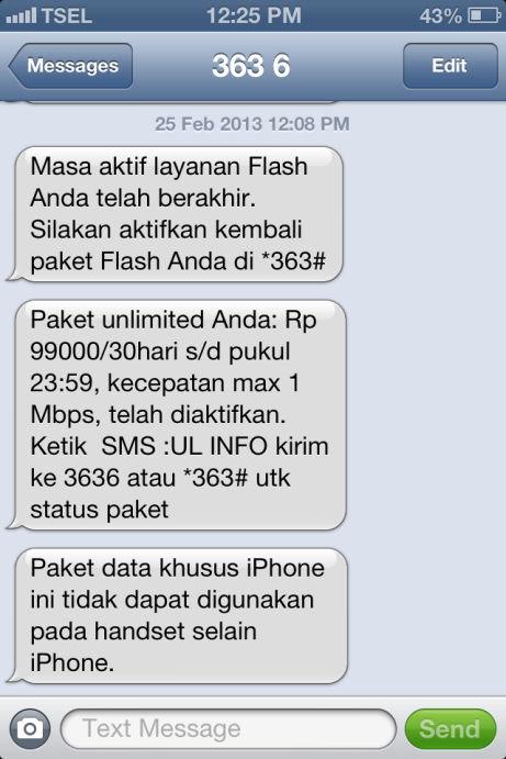 Paket iPhone Telkomsel Aktif