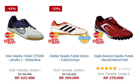 Sepatu Futsal Brand Internasional Harga Murah